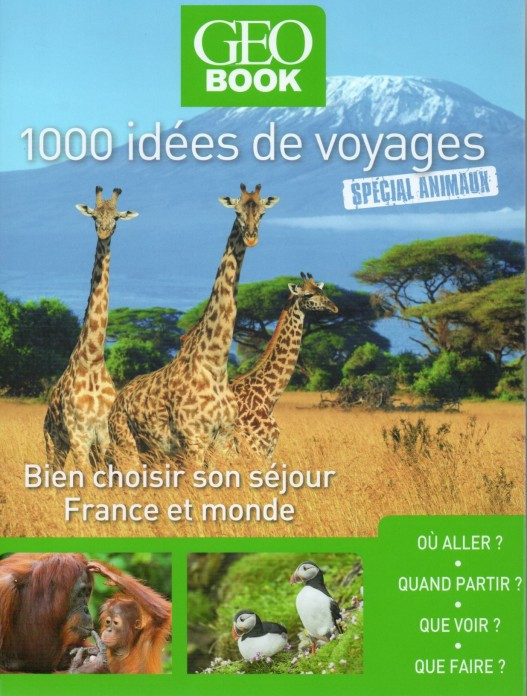 1000 idées de voyages GEOBOOK recto