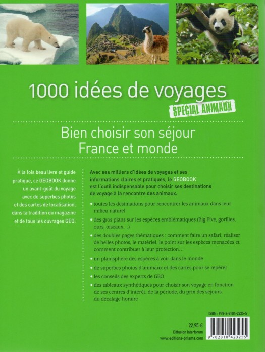1000 idées de voyages GEOBOOK verso